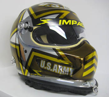 Drag Racing Helmets >> Special Edition Gold Chrome Tony Schumacher Helmet To Be Auctioned
